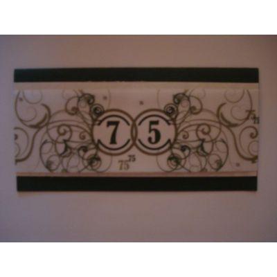 Einladungskarte 75. Geburtstag auch als Bastel-Set | Geburtstag75