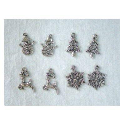 Embellishments Charms 4x2 st. Winter | JU871