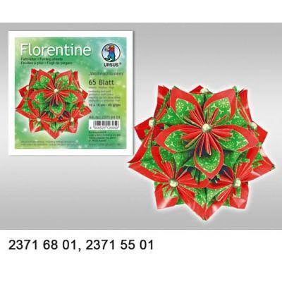 Faltblätter Florentine Weihnachtsstern 80g/m² 15 x15 cm   23715501