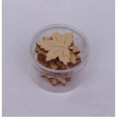 Holz Ahornblatt 30 mm ca. 8 Stück | LAH 10D03