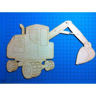 Holz Bagger 50mm - 200mm   VEH6905 / EAN:4250382844464