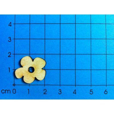 Holz Blüte ganz 20 mm in Dose ca. 16 St. | BLH27D02 / EAN:4250382829492