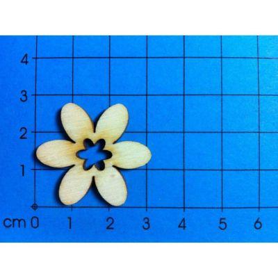 Holz Blume 30mm mit Blumenausschnitt | BLH 15032 / EAN:4250382800712