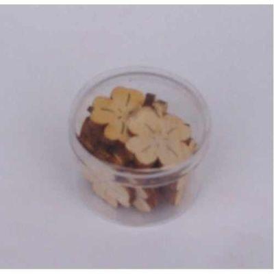 Holz Kleeblatt 20 mm ca. 15 Stück | KLH41D02