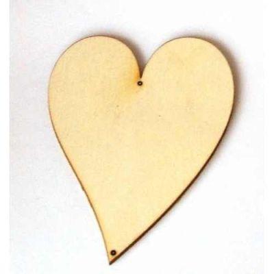 Holz Kleinteile Herz länglich | HEH22080