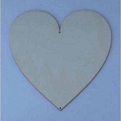Holz Kleinteile Herz symmetrisch ab16mm - 220mm | HEH26016