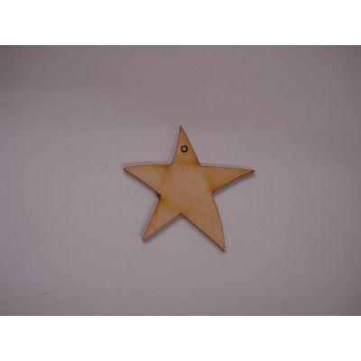 Holz Kleinteile Stern mit 1 Loch | STH 5203