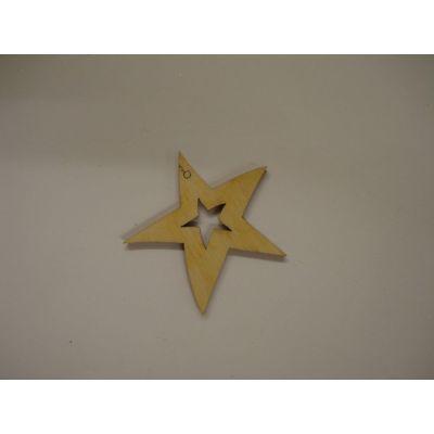 Holz Kleinteile Stern mit Stern | STH 5503