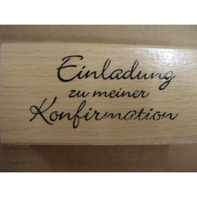 Holz Schriftstempel Einladung zu meiner Konfirmation | D6078 / EAN:4030003160780