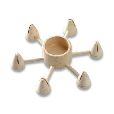 Holz Teelichthalter rund, natur | 3260000 / EAN:4011643617582