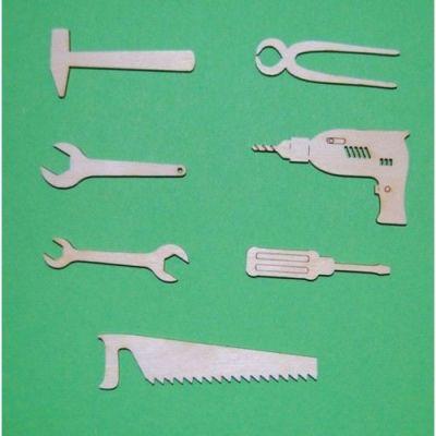 Holz Werkzeugsatz 7tlg , SB-verpackt ab 40mm - 80mm | WZH1004SB / EAN:4250382844365