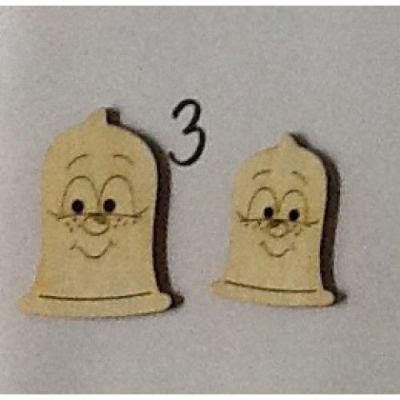 Holzknopf Kondomi Design 3 | BUH 55055