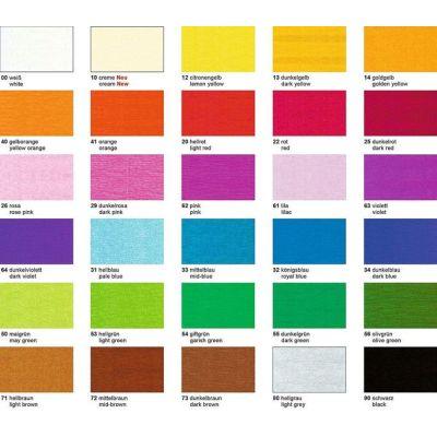 Krepp-Papier 32g/m², 250 x 50 cm BASTELKREPP in vielen Farben auch gold und silber | 4020 300
