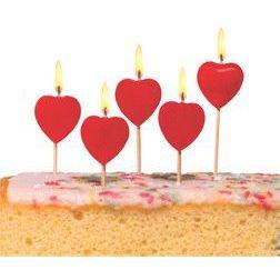 Kuchenkerzen Herz, aus Wachs | 10699999 / EAN:4008110255996