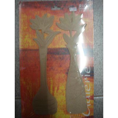 längliche Vase mit Blumen MDF | 69190000 / EAN:4003855643503