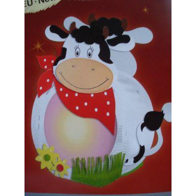 Laternen Bastel-Set rund Kuh | 18750000