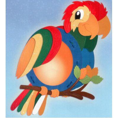 Laternen Bastel-Set rund Papagei | 18860000