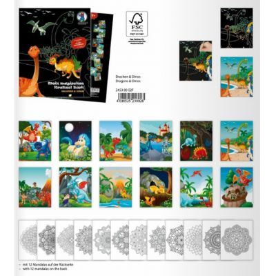 Mein magisches Kratzelbuch Drachen und Dinos   24530002F / EAN:4008525238928