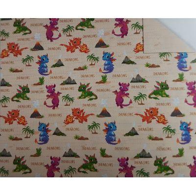 Motivkarton Kids Drachen 49,5 x 68 cm | 11472202 / EAN:4008525233565
