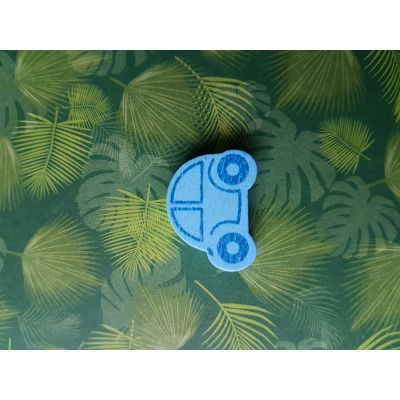 Motivperle Auto 25 x 18mm, blau | B00959