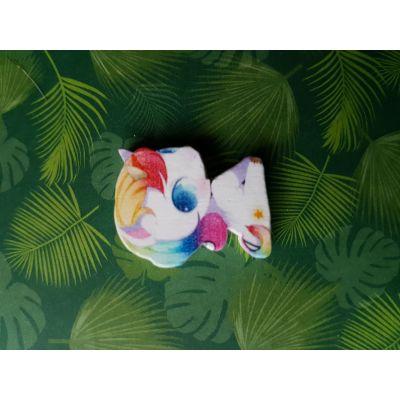 Motivperle Einhorn Regenbogen 28 x 23mm   B01809