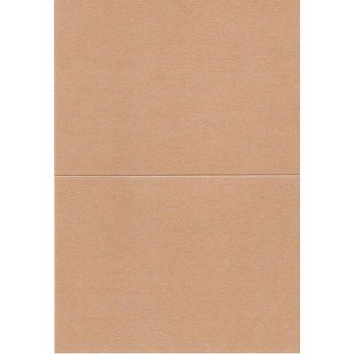 Papierkarte, B6, metallic, bronze, Klondike 120g | 6763612-604