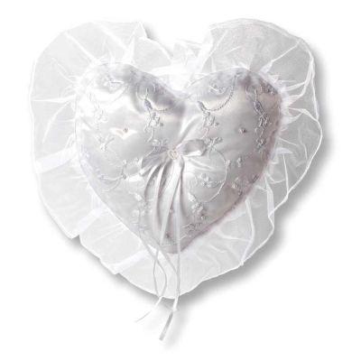 Ringkissen Herz mit Stickereien | 8008 257 / EAN:4011643636835