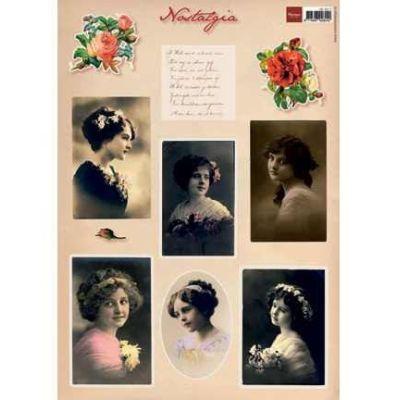 Schneidebogen Ladies; A4 Bogen | 24539