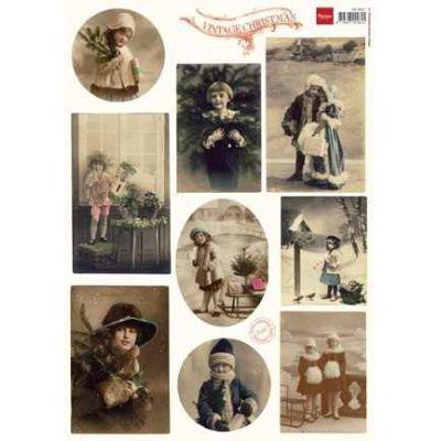 Schneidebogen Vintage Weihnacht; A4 Bogen   24648