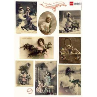 Schneidebogen Vintage Weihnacht; A4 Bogen | 24649