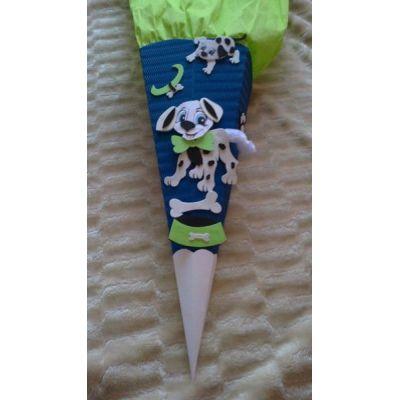 Schultüte Dalmatiner als Bastel-Set oder Fertige Schultüte handarbeit | 2011-7