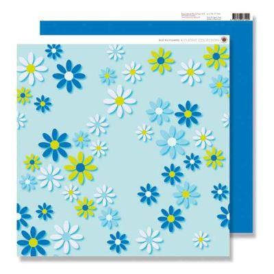 Scrapbook Blumen auf mint farbenen Untergrund | 78982356