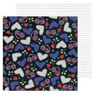 Scrapbook Dessin Papier MMH- i heart ya 30,5X30,5 | 117017/0606