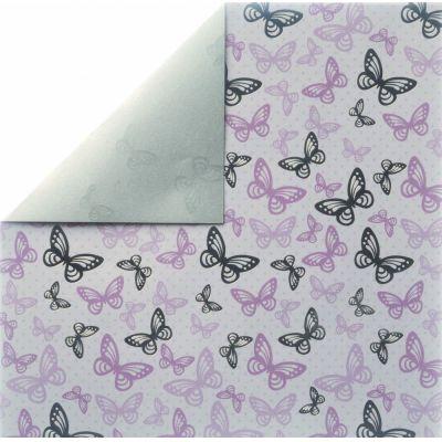 Scrapbookingpapier Butterflys, ros?, 30,5x30,5cm, 190g/m2 | 79902258 / EAN:9332688016303