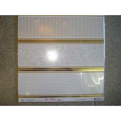 Silber - Edel Scrapbookpapier Martha Steinmeyer 30,5x30,5 cm | 148218491