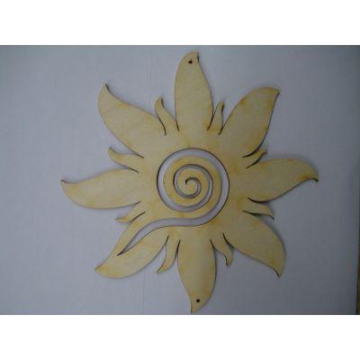 Sonne mit breiten Strahlen und Spirale 120mm | SOH 7412
