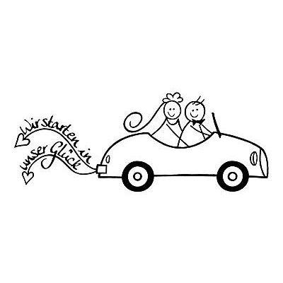 Stempel Auto Wir starten in unser Glück | 1827809