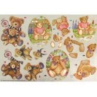 Teddybären Stanzbogen   750310