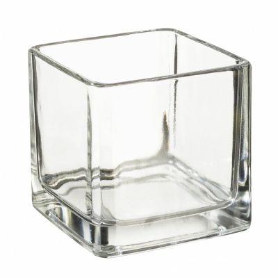Teelichtglas eckig 5 x 5 cm   3750184
