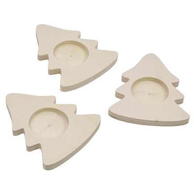 Teelichthalter Weihnachtsbaum 3er Set | 210-090 / EAN:4260197672237