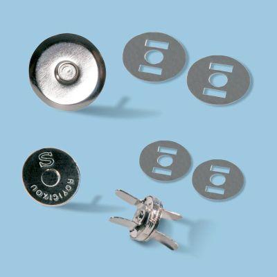 TRENDYbag Taschenmagnetverschluss silber 14 mm | 3203001
