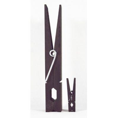 2 Mini-Klammern - schwarze Maxi-Klammer und schwarze Mini-Klammer | 859124451