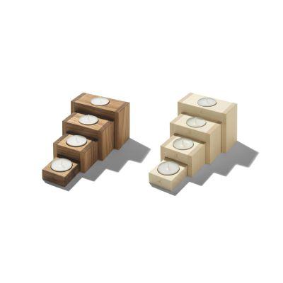 Adventsleuchter 4Steps aus Holz | 733392035 / EAN:4023116402434