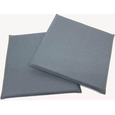 Beige meliert 69, pastellblau 31 - Eckige Sitzkissen aus Filz, Maße 37 x 37 cm in vielen Farben | 388374646