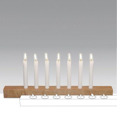 Brennholz - Kerzenhalter aus Holz für Stabkerzen und Teelichter | 165984886