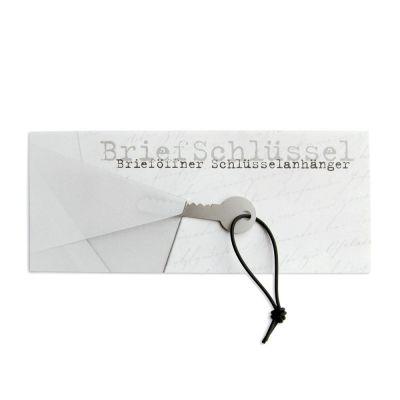 BriefSchlüssel - Grußkarte mit Brieföffner und Schlüsselanhänger | 156437826