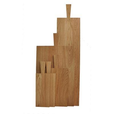 Brotzeitbrett mit Griff in der Größe - Lang (60 x 21 x 2,2 cm + Griff 13 cm) | 641783616