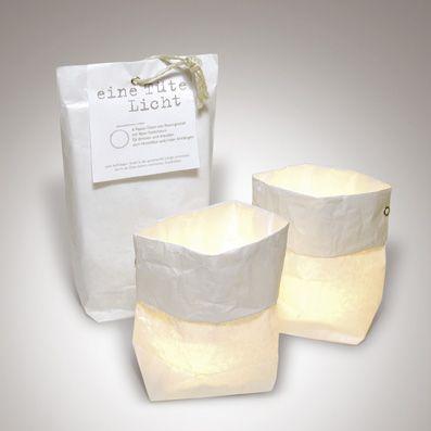 eine Tüte Licht - weiße Lichttüten aus Papier | 149991851