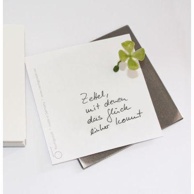 Glückszettel - schöner Notizblock mit Glücksmagnet | 165498361