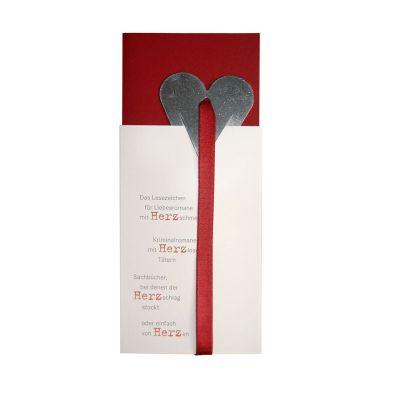 Herz-Lesezeichen - Weihnachtsgrußkarte | 856875936